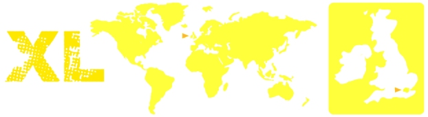 world map yellow